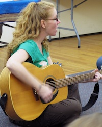 Sara Marlowe sings songs about mindfulness for kids