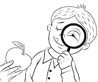Magnifying Glass Colouring Page from No Ordinary Apple